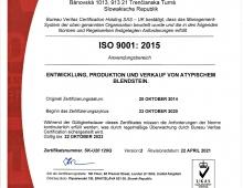 ISO Zertifikat 2021 - 2023