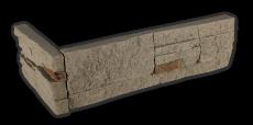 Stone brown - Eckstück